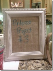 wipe off board with burlap