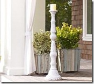 pottery barn pillar holder